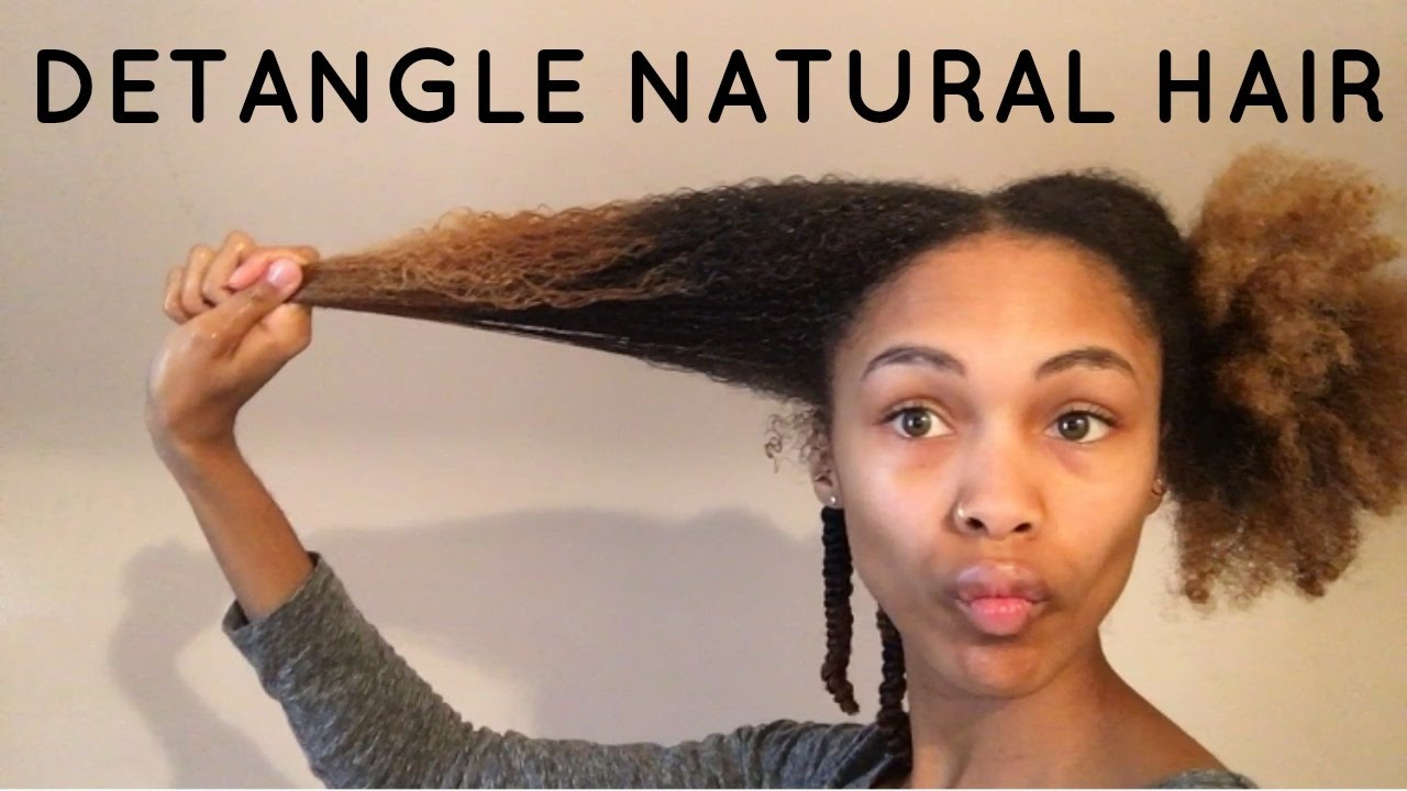 How To Detangle Curly Wavy Or Kinky Hair Care Using