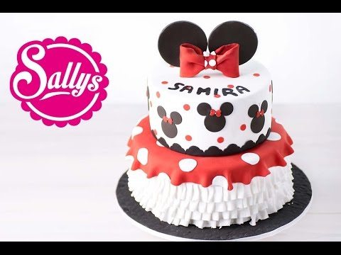minnie mouse torte zweist ckige motivtorte walt disney geburtstagstorte youtube. Black Bedroom Furniture Sets. Home Design Ideas