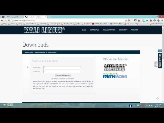 Cài Đặt Kali Linux (Backtrack 6) Thuận Tiện Cho Việc Hack