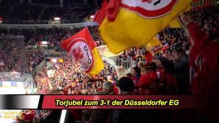 4 x Torjubel der DEG-Fans beim 6.Playoff-Spiel (22.03.2015)