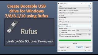 Gambar cover Create Bootable USB drive for Windows 7/8/8.1/10 using Rufus