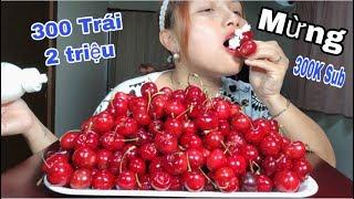 🇯🇵Làm Nhẹ Núi Cherry 2 Triệu Vnđ Chấm Kem Tươi Ăn Mừng 300K Sub - Cuộc Sống Ở Nhật #229