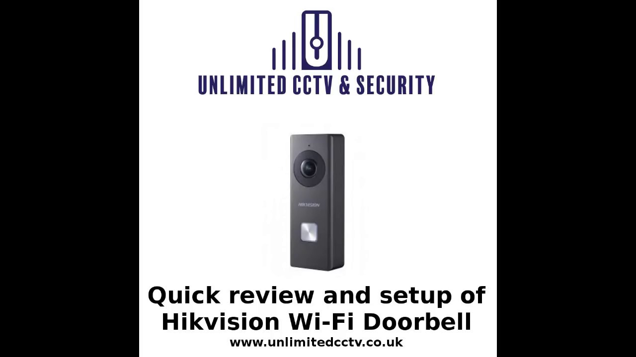 Hikvision Wi-Fi doorbell Quick Review and setup