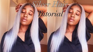 Silver/Grey Hair Tutorial | South African Youtuber