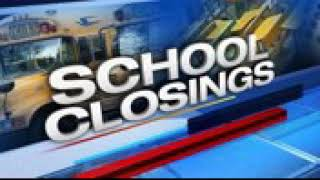 School closings and delays due to potential severe weather