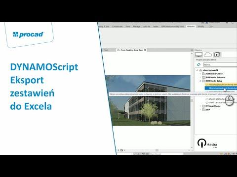 DYNAMOScript - Eksport zestawień do Excela