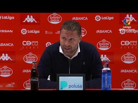 Rueda de prensa de  Curro Torres tras el CD Lugo vs Albacete BP (1-0)