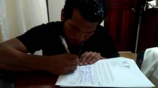 Siona Indigenous leader signs the Nature Nations Declaration of Independence