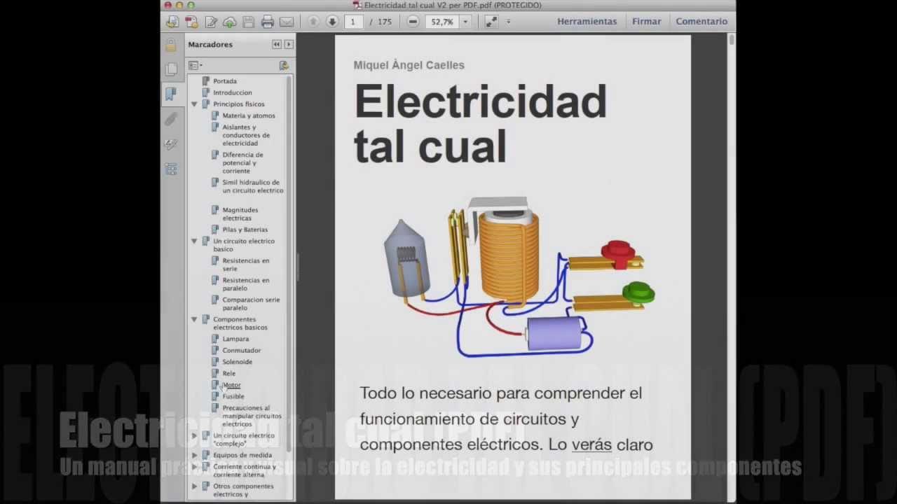 Electricidad tal cual versi n pdf youtube for Curso de cocina basica pdf
