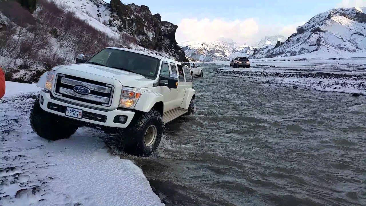 Super Jeeps in Thorsmörk, Iceland - YouTube