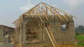 How To Build A House On A Half Plot In One Month In Nigeria Africa Part 2 Youtube