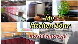 My Kitchen tour  Kitchen arrangement  kitchen setup vlog  kitchen tour in malayalam  Shadiya's vlogs