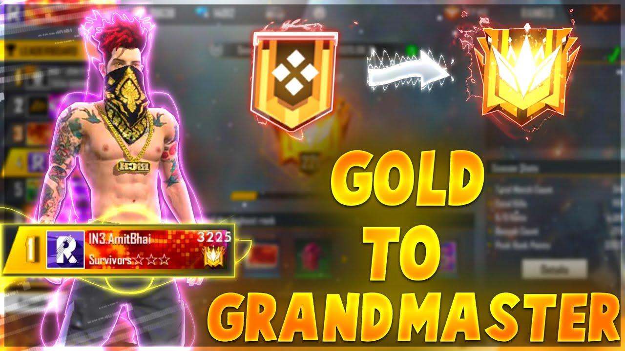 ROAD TO GRANDMASTER || GARENA FREE FIRE || DESI GAMERS