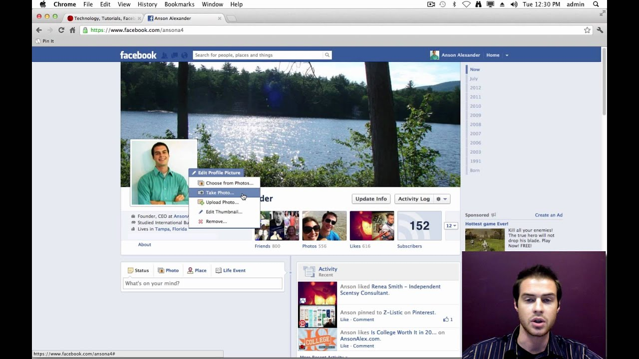 Facebook 2010 Profile