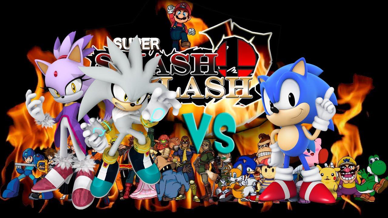 SSF2 Mods Silver/Blaze VS Classic Sonic