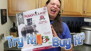 We Try Jack LaLanne's Fusion Juicer! Should You Buy It?