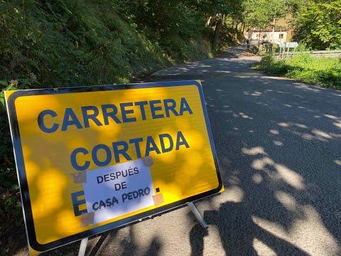 Hundimiento en la carretera San Juan de Parres