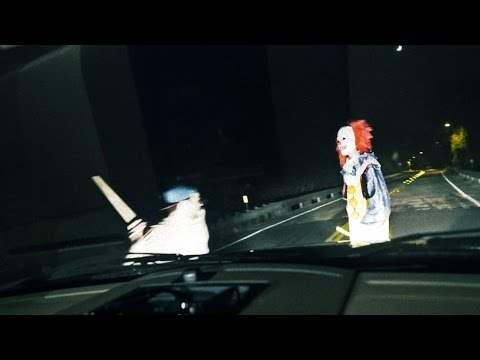 KILLER CLOWN RUN OVER Clown Sightings (Original Video)