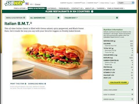 Subway The Healthy Fast Food, Italian