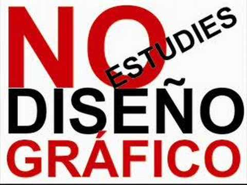 No estudies dise o gr fico youtube for Que es diseno grafico