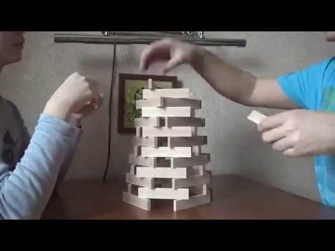 Строение 1. Пирамида. Деревянные бруски из икеи