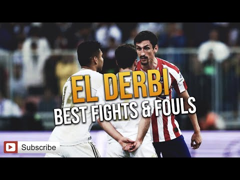 El Derbi - Real Madrid vs. Atletico Madrid (Best fights & Fouls ) Mp3