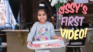 SISSY AND SNOOKI DECORATE VALENTINE'S DAY COOKIES FOR THE NEW BABY