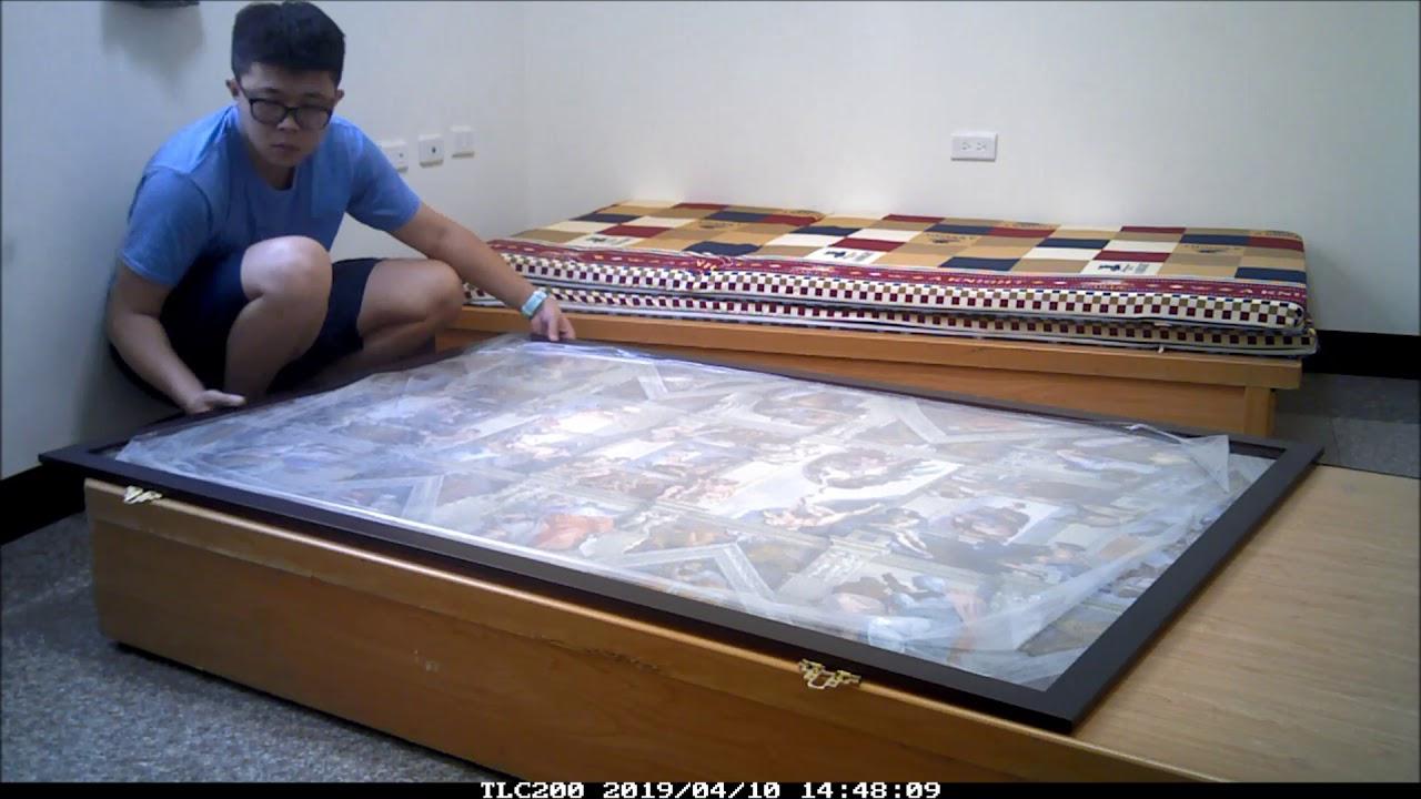 【5000片拼圖】縮時攝影 上膠 裝框 上牆 - YouTube