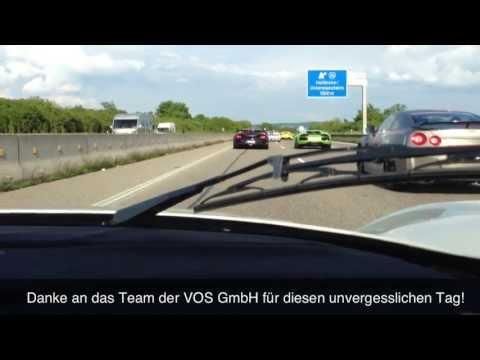 300 Km/h !! - Maserati MC12 On German Autobahn - Ride,Accelerations,Sound