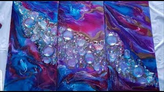 Resin Art! 3 Panels aka Triptych & a Roll of Cricut Paper ='s Amazing Results