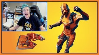 Ninja Reacts To New Vertex Skin & Razor Edge Pickaxe & Forerunner Glider In Fortnite