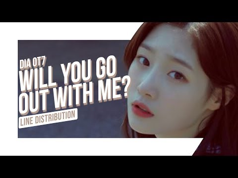 DIA OT7 - Will You Go Out With Me? 2016 : Line Distribution (Color Coded)