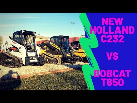 Skid Steer Side By Side - Bobcat T650 Vs New Holland C232 Compact Track Loaders