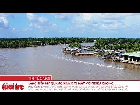 Làng biển Mỹ Quang Nam đối mặt với triều cường