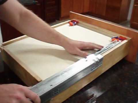 RTA Cabinet Store.com : Soft Close Drawer Glide Installation - YouTube