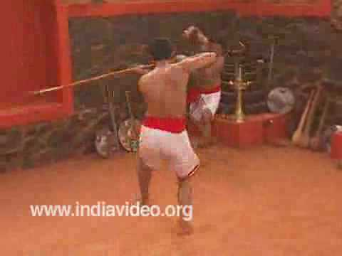 Sword versus spear in Kalaripayattu