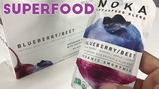 NOKA 100% Organic Smoothie Blueberry Beet Superfood Pouches Review