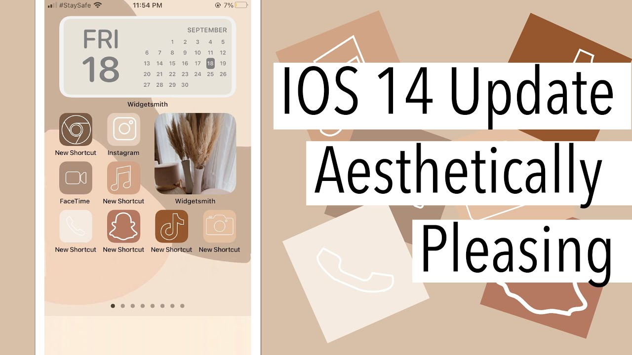 How To Create An Aesthetically Pleasing Iphone With The New Ios 14 Update Step By Step Youtube