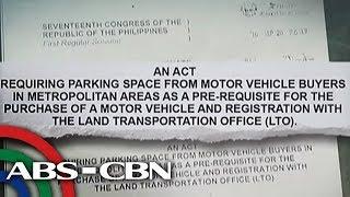 Pabor ka ba sa 'no garage, no car' policy?