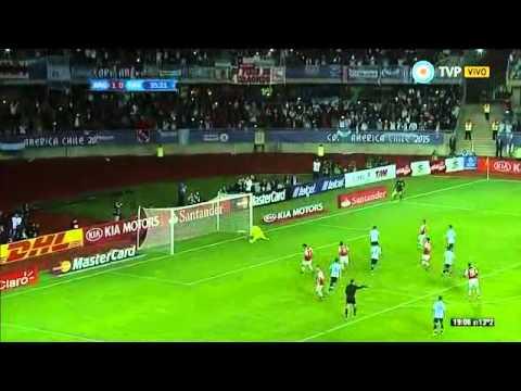 Argentina 2 - 2 Paraguay COPA AMERICA 2015 - Tv Publica