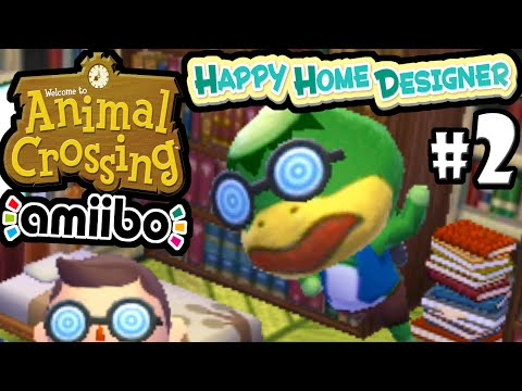 Animal Crossing Happy Home Designer PART 2 Gameplay Walkthrough (DAY 2 & 3 Kapp'n Amiibo Card) 3DS