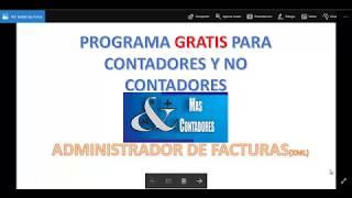PROGRAMA GRATIS PARA ADMINISTRAR FACTURAS YXML