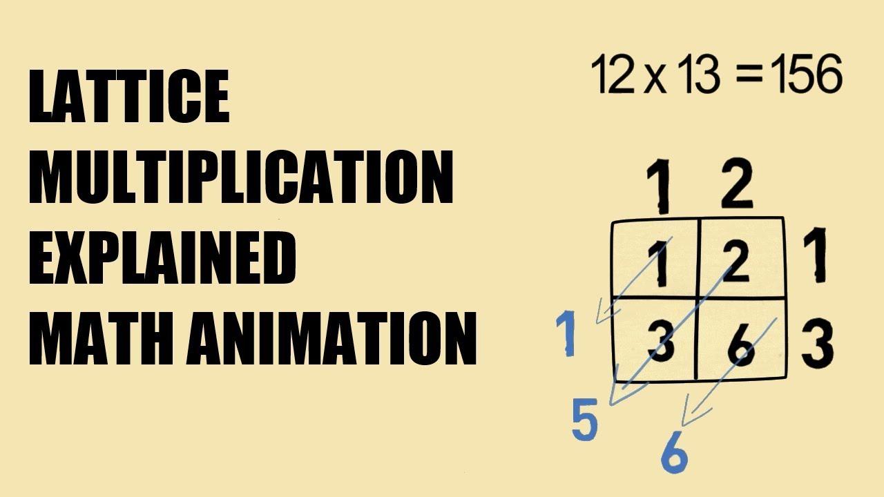 Lattice Multiplication Explained - Math Animation - YouTube