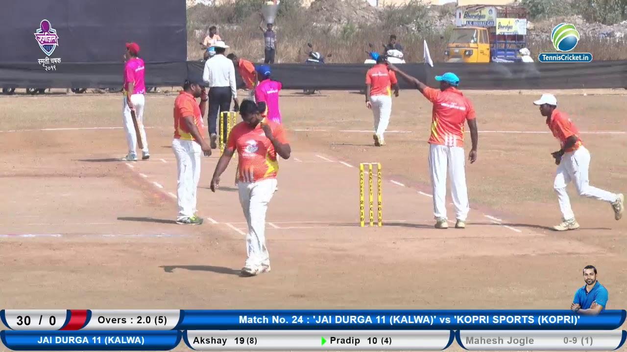 Jai Durga 11 vs  Kopri Sports   Ranjit Smruti Chashak 2019    Thane    Day 3