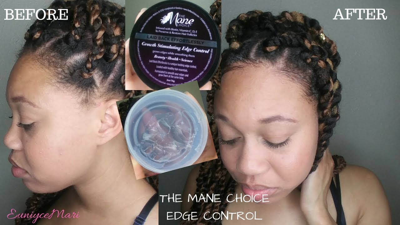 The Mane Choice Growth Stimulating Edge Control Review Demo Natural Hair Product Euniycemari