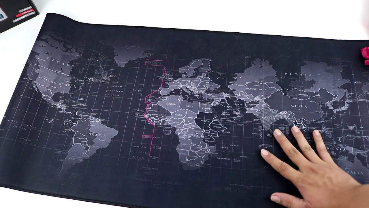 World Map Speed Game Mousepad Review Unboxing Youtube