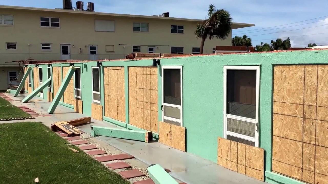 Cocoa Beach Sea Aire Motel Destroyed Hurricane Irma