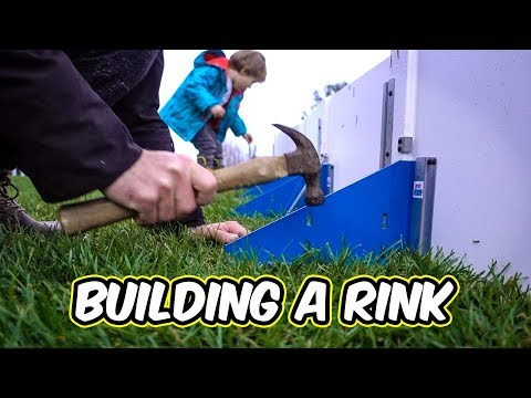 Building a rink with Mason - Testing the new Drop In Rink