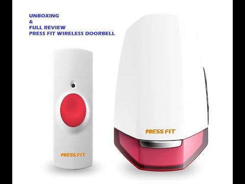 Press Fit Plastic Echo  Wireless  Door Bell  REVIEW HINDI #reviewqueen #wirelessdoorbell