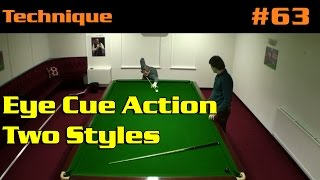Nic Barrow Snooker Coaching Matthew S 13 Eye Cue Action Two Styles
